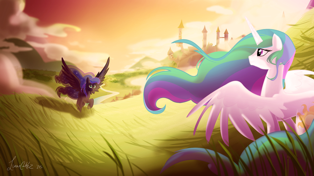 The Hills Of Canterlot by LunarCakez