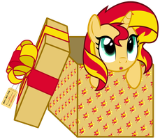 Sunset in box by JustisAnimation