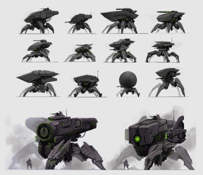 Mech Sketches by fightpunch