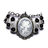 SteamGoth Bracelet Cameo by CatherinetteRings