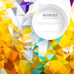 Colorful Polygonal Triangular Background Free by 123freevectors
