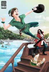 Peter Pan and Captain Hook by FREEdige
