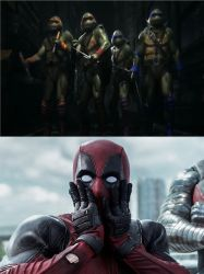 Deadpool Gasps At The TMNT In Injustice 2 by JCFanfics