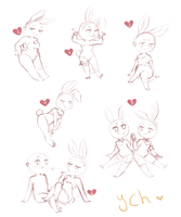 (closed)  ych mini chibi - bunnies time by LobaMagica