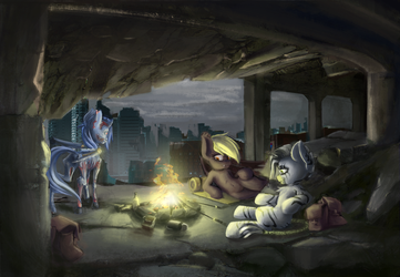 A Campfire Night by blvckmagic