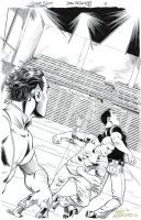 TEEN TITANS #90 Full-Pg SPLASH-Superboy + Gar $55 by DRHazlewood