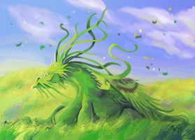 Wind-in-the-grass Dragon by LynxGriffin