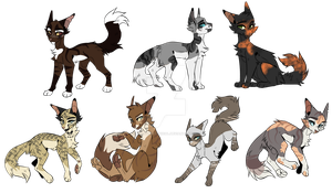 OTA Warrior cat adopts 0/7 open  I CLOSED I by RosieTheMythical