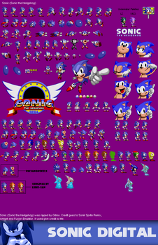 Edited Sonic 1 sprites by GFTheplayer