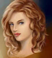Curly Hair Study by pinkpolka234