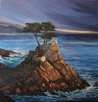 Cypress Point Oil Painting by HouseofChabrier