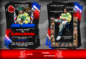 barber promotional flyer by DeityDesignz