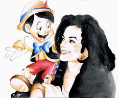 Michael and Pinocchio by Pearlan