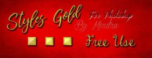 Gold Styles for Photoshop by kendra19082002