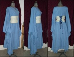 Blue Elf Dress, side + rear by ElegantlyEccentric