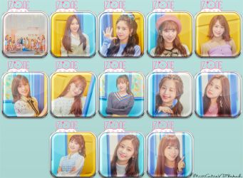IZONE ColorIZ Icons by MissCatieVIPBekah
