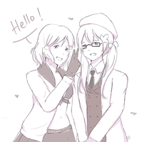 APH fem!America and fem!Canada by akahikasa