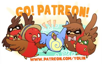 Go!Robins! is now on Patreon! by yolin