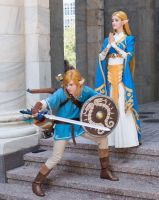 Link and Zelda - TLoZ Breath of the wild by Link130890