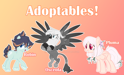 MLP Misc. Adoptables (CLOSED) by froggsalt