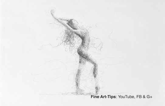 How to Draw a Doodling Sketch of a Ballerina (Woma by ArtistLeonardo