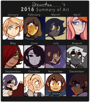2016 Art Summary by gatooroo