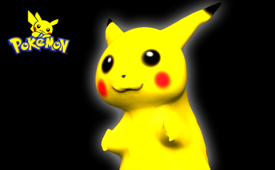 PIKACHU Cute Pokemon 3D Sculpt Render by HomelessGoomba