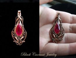 Ruby and Copper by blackcurrantjewelry