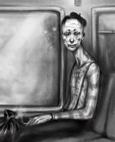 mime on a train by cryo-draws