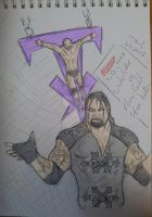 Undertaker VS Stone Cold sketch -1.1.2013 -Colored by itamar050