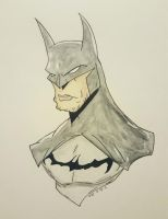 Watercolor Batman by CrimsonsCreations