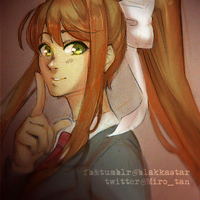 [GIF] Just Monika by BlakkaStar