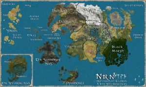 Map of Tamriel by TalkingTurtle11