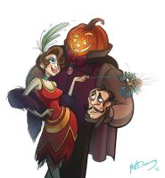 Halloween Flirt by FreakyPicasso