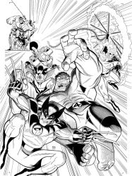 cover inked by ARTHUR ADAMS by BroHawk