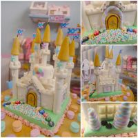 Marshmallow cake 1:6 scale by LittlestSweetShop