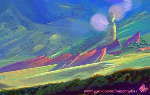 <b>Green Plains With Red Rocks</b><br><i>Nimphradora</i>