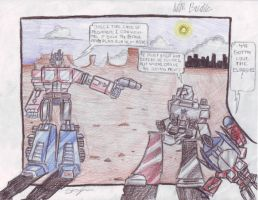 Megatron and Optimus Prime by Austinbot101