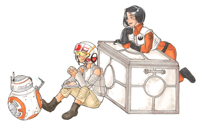 Fanart Commission: Rey and Jessika by Desi-Designs