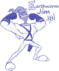 Alphabet Challenge - Earthworm Jim by kevinxnelms