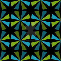 Geometric Pattern: Star: Blue/Green by redwolfoz