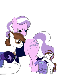 Diamond Tiara and Pipsqueak shipping foal by CrimsonGlow