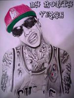 Drawing Tyga by MontyKVirge