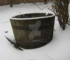 barrel in the snow by lishanshan