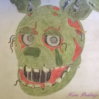 Springtrap Drawing by Lord-Kaine