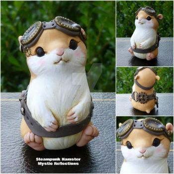 Steampunk Hamster Sculpture by MysticReflections