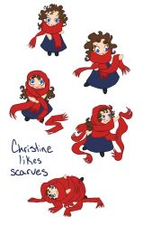 Christine Likes Scarves by bananaboo2