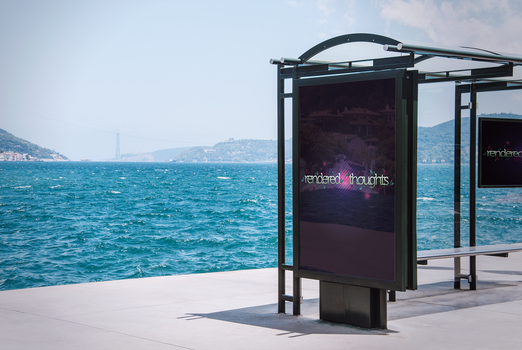 Bus Stop Advertisement Mockup by RenderedThoughts