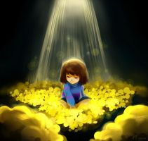 Bed of Golden Flowers by Kiocelli