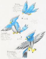 Fake Pokemon: bird evo line
